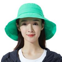 ohsunny防晒帽女夏遮阳遮脸户外大沿百搭防紫外线渔夫帽子太阳帽