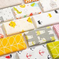 純棉布料嬰兒童寶寶卡通花布床品床單被套服裝面料全棉斜紋棉布頭
