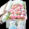 中礼 19朵鲜玫瑰花礼盒