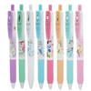 日本Zebra斑马JJ15新款迪士尼公主限定款中性笔迪士尼皇后按动款水笔 学生书写手账绘图彩色水笔0 8色各1支