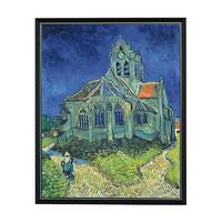 梵高名人油画 《奥弗的教堂》装饰画挂画 82*100cm