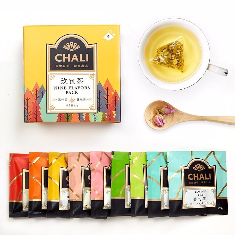 chali 茶里 玖包茶 9种口味花茶组合 23g *6件