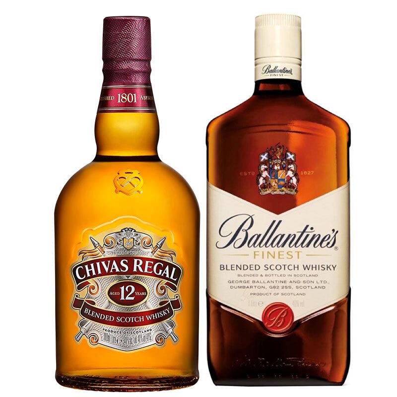 CHIVAS 芝华士 威士忌组合装 1L*2瓶(芝华士12年1L+百龄坛特醇1L)
