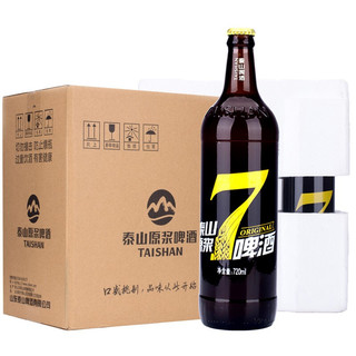 TAISHAN 泰山啤酒 泰山原浆啤酒7天精酿鲜啤8度全麦芽酿造啤酒整箱720ml*6瓶 1箱
