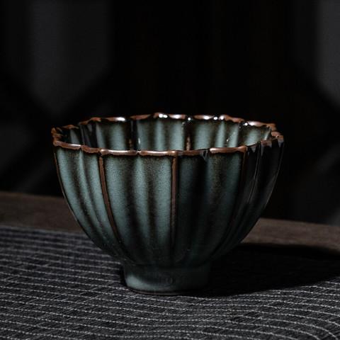 xigu 熹谷 龙泉青瓷茶杯铁胎哥窑主人杯 100ml