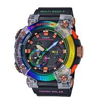 CASIO 卡西欧 G-SHOCK系列 FROGMAN 彩虹蟾蜍 56.7×53.3毫米太阳能动力腕表 GWF-A1000BRT-1APR