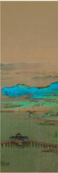 故宫 千里江山 小立轴 竖幅装饰画居家书房