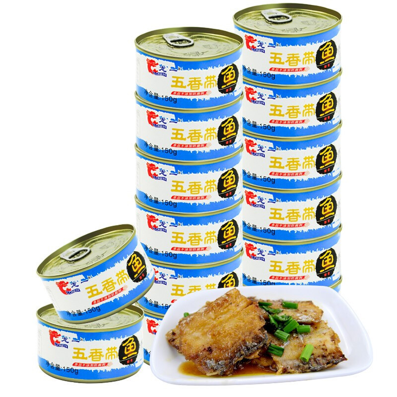 LONEN 龙一 五香带鱼罐头