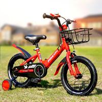 飞鸽(PIGEON)儿童单车自行车男女童宝宝车3-6-8岁小孩山地车童车学生自行车可拆卸辅助轮红色16寸