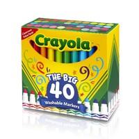 女神超惠买、中亚Prime会员:Crayola 多色超净可水洗马克笔(40 支)