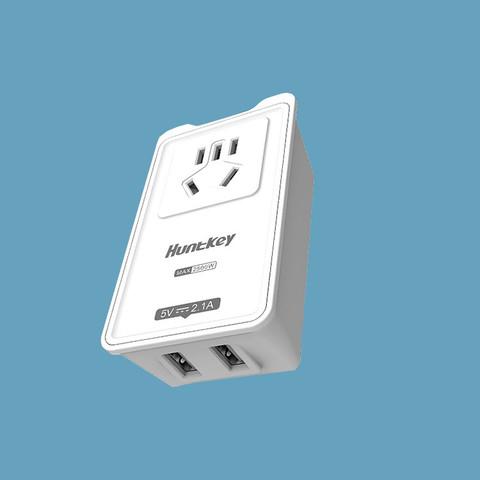 航嘉 多功能插座转换器 1转1+2USB插位