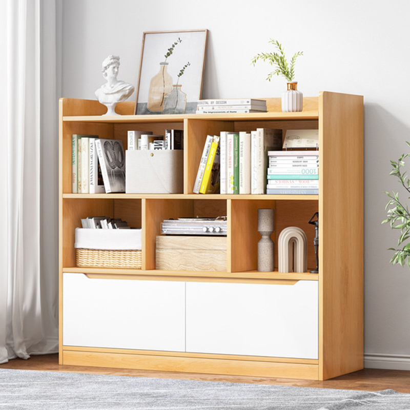 ST多功能家用客厅书房书架多层置物架卧室学生收纳书柜80×112cm