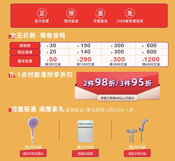 促销活动:天猫 箭牌官方旗舰店 38女神节专场