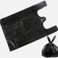 本纳 黑色加厚手提式垃圾袋 50只