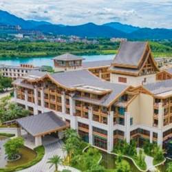 近白水寨景区!广州森林海温泉度假酒店 山景温泉大床房1晚(含早+自助晚餐)