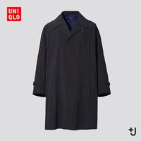 19日0点:优衣库 +J 439929 男士宽松风衣