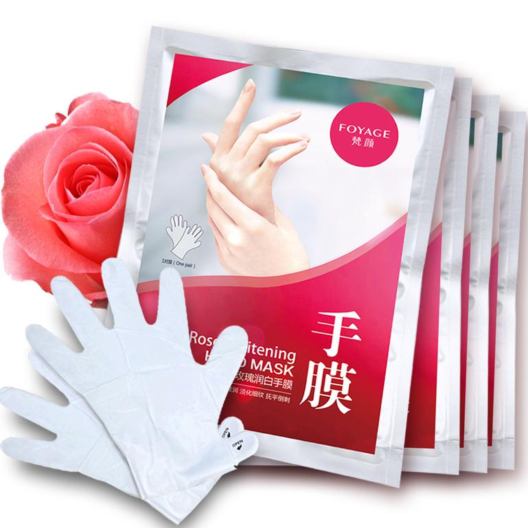 FOYAGE 梵颜 玫瑰滋润手膜 4袋