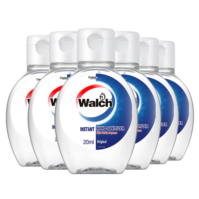 Walch 威露士 威露士免洗洗手液20mlx6 含酒精杀菌消毒凝胶 家庭外出消毒常备