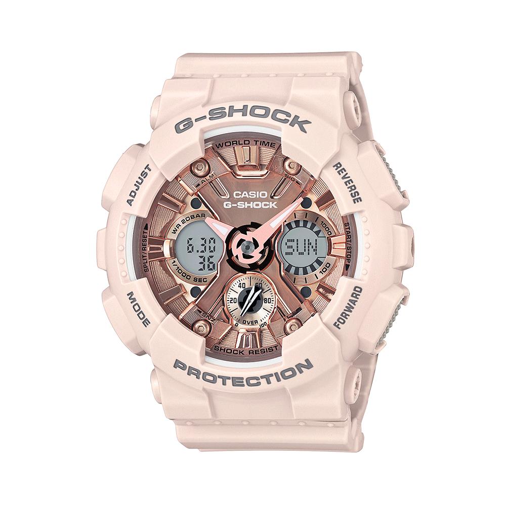 38女王节:卡西欧casio双显防震手表女GMA-S120MF系列G-SHOCK礼物