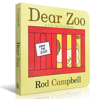Dear Zoo进口英文原版绘本纸板书亲爱的动物园儿童英语启蒙书籍 0-4岁立体机关翻翻书吴敏兰书单绘本 可搭brown bear