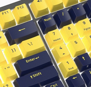 FirstBlood B16 96键 有线机械键盘 琥珀 Cherry红轴 单光