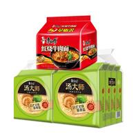 康师傅 日式叉烧豚骨面8袋 + 经典红烧牛肉味 5袋