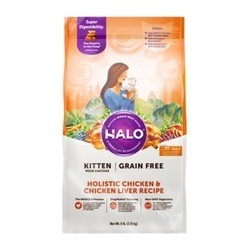 Halo 自然光环 全价健美无谷成猫粮 鸡肉鱼肉 10磅