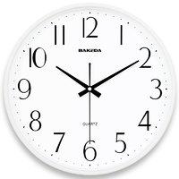 巴科达 圆形挂钟 2602 白色 9英寸