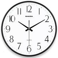 巴科达 圆形挂钟 2602 黑色 11英寸