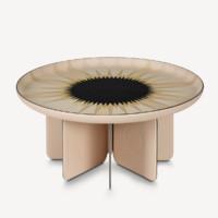 Louis Vuitton Objets Nomades系列 折疊桌 大號 米黃色
