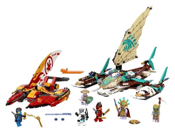积木之家、百亿补贴:LEGO 乐高 Ninjago 幻影忍者系列  71748 双体船海战