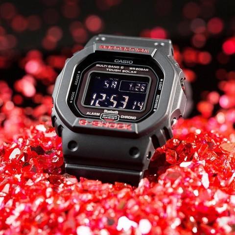 CASIO卡西欧手表男小方块太阳能户外手表 GW-B5600HR-1PR