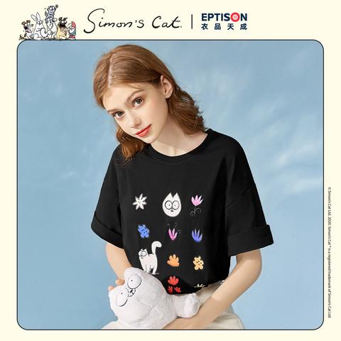EPTISON 衣品天成 西蒙的猫联名款 女士短袖T恤 AWT126B