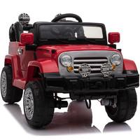 貝瑞佳 BeRica 四驅嬰兒童電動車遙控越野四輪汽車男女小孩玩具車可坐人寶寶童車搖擺紅色