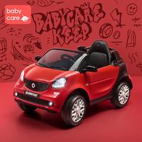 babycare兒童電動車 smart四輪越野汽車小孩玩具車可坐人遙控童車 NTH001-A光珊紅