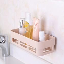 梦庭卫生间置物架浴室免打孔洗手间洗澡间洗漱架台冲凉房厨房壁挂收纳架皂盒2044 *3件