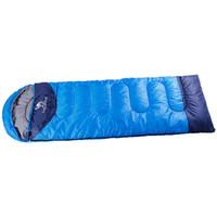 駱駝 CAMEL 戶外睡袋野營1.35kg加厚成人睡袋 A6S3K1103 深寶藍/彩藍 1.35右邊