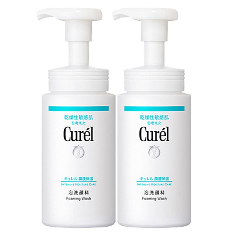 Curel 珂润 润浸保湿洁面泡沫洗面奶 150ml*2瓶装