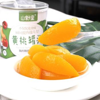 京东PLUS会员 : 山野里 水果黄桃罐头 312g *5件
