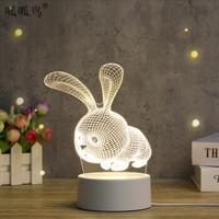 多牛 创意LED氛围小夜灯 3D兔
