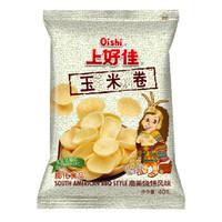 有券的上、京东PLUS会员、运费券收割机:Oishi 上好佳 膨化零食玉米卷 40g/袋  *7件