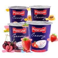 Pascual 帕斯卡 酸奶 原味果粒常温全脂乳酸早餐 125g*4杯 *2件