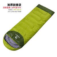 駱駝 CAMEL 戶外睡袋野營1.35kg加厚成人睡袋 A6S3K1103 果綠/軍綠 1.35右邊