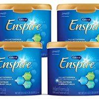 MeadJohnson 美赞臣 Enfamil 铂睿 Enspire 婴儿奶粉,包含MFGM和Lactoferrin(牛初乳中的蛋白质)-20.5盎司,581克(4罐)