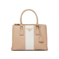 普拉达PRADA 女士云色+滑石粉色皮革小号Prada Galleria Saffiano 皮革手袋 1BA863VOOS-NZV-F0DTH