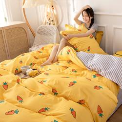 纯棉卡通ins套件印花床单被套全棉床上用品三/四件套1.2m