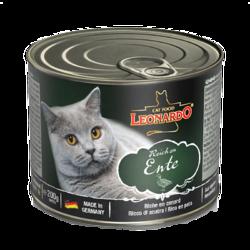 德国小李子猫罐头 Leonardo莱昂纳多猫咪主食罐/成猫幼猫无谷鲜肉零食湿粮 鸭肉200g *6件