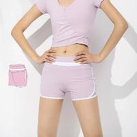 時尚撞色緊身提臀女式速干褲女健身跑步褲運動褲