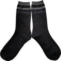 CAT/卡特黑色中筒針織襪運動襪中筒襪保暖襪男襪女襪