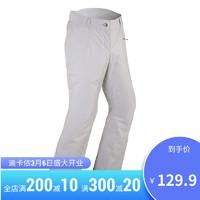 迪卡侬滑雪裤女冬季户外防水加厚保暖透气单板双板软壳裤 WEDZE1 灰白色 36/XS(尺码偏大一码) *4件
